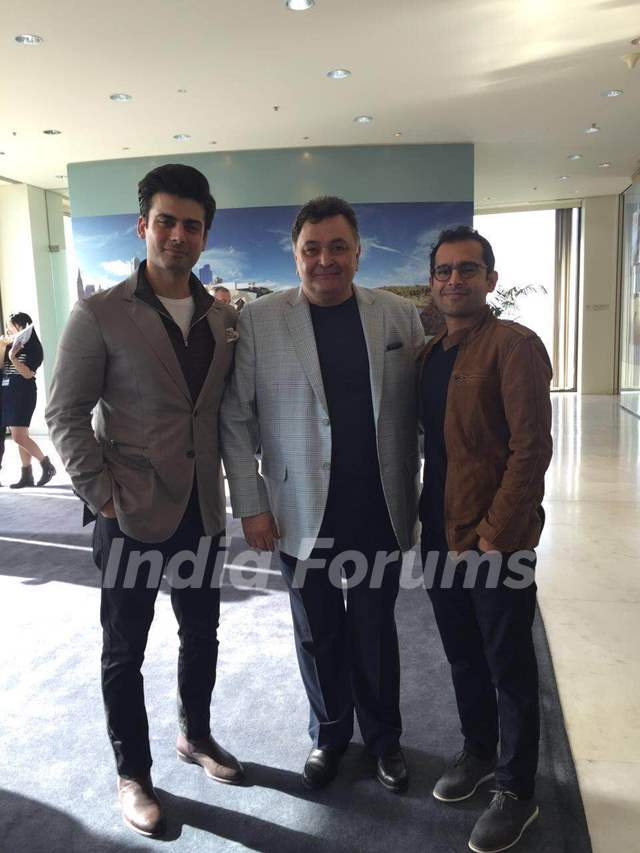 Fawad Khan,Rishi Kapoor and Shakun Batra at Melbourne film Festival