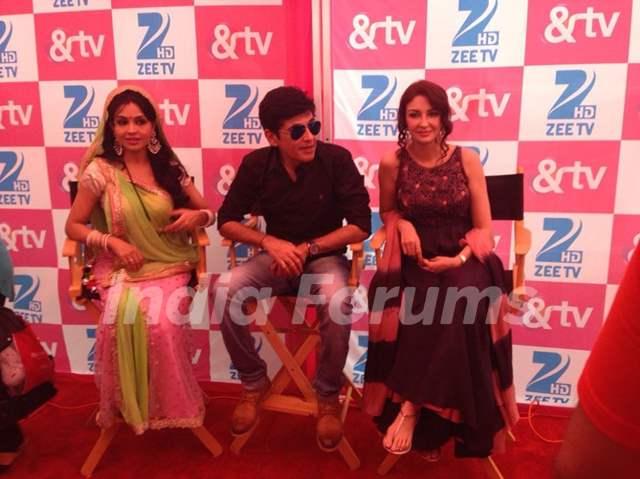 Saumya Tandon, Asif Sheikh and Shubhangi Atre Poorey starring Bhabhi Ji Ghar Pe Hain?