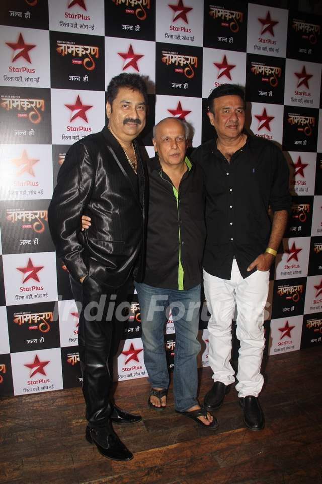 Mahesh Bhatt and Anu Malik at Launch of Serial 'Naamkaran'