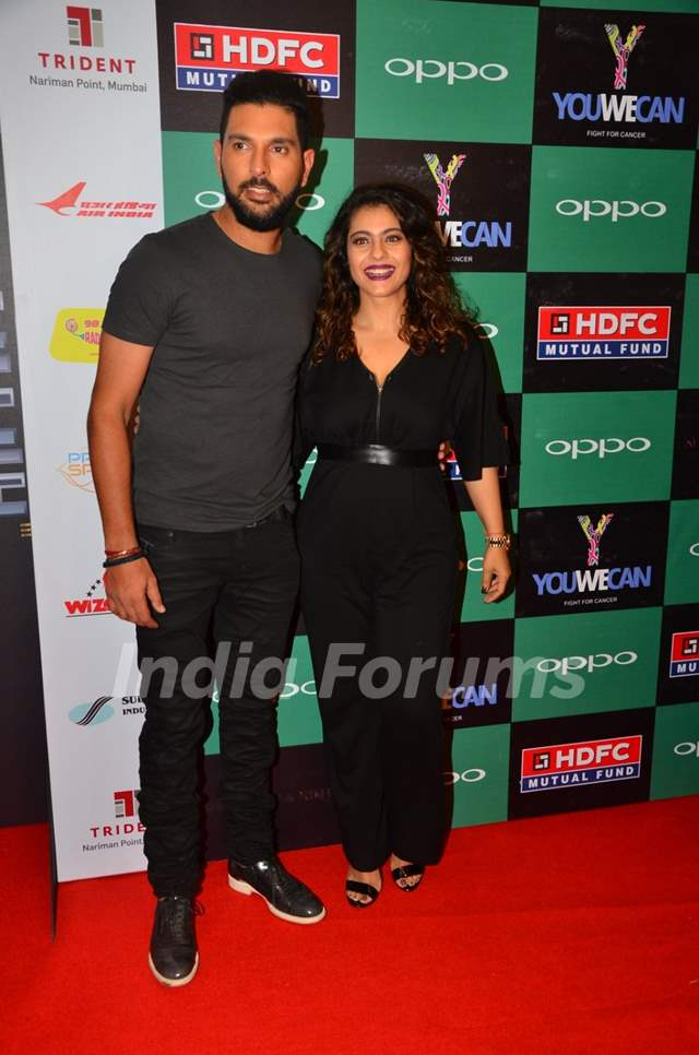 Yuvraj Singh and Kajol at Launch of new Clothing line 'YouWeCan'