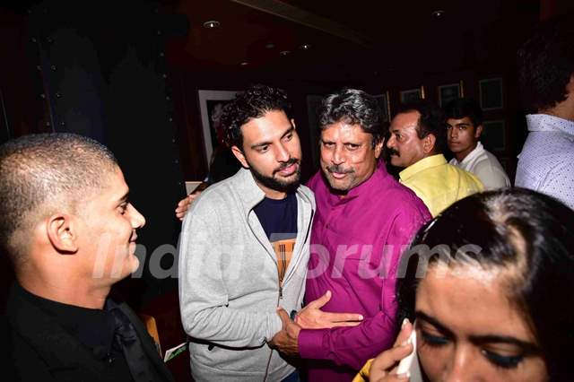 Kapil Dev and Yuvraj Singh at Premiere of PINK in Delhi