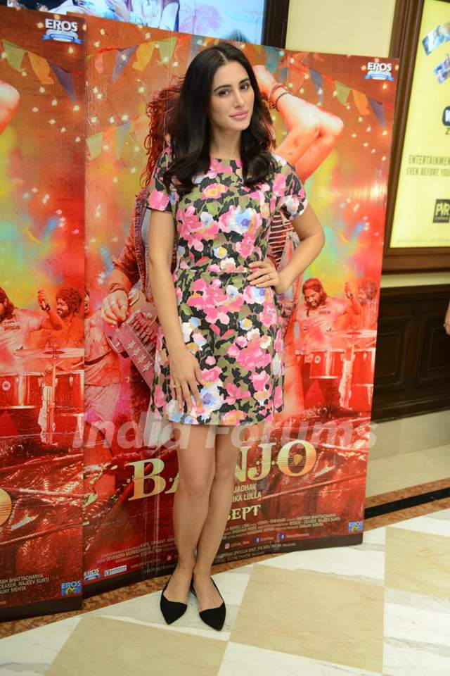 Nargis Fakhri at Press meet of 'Banjo' in Delhi