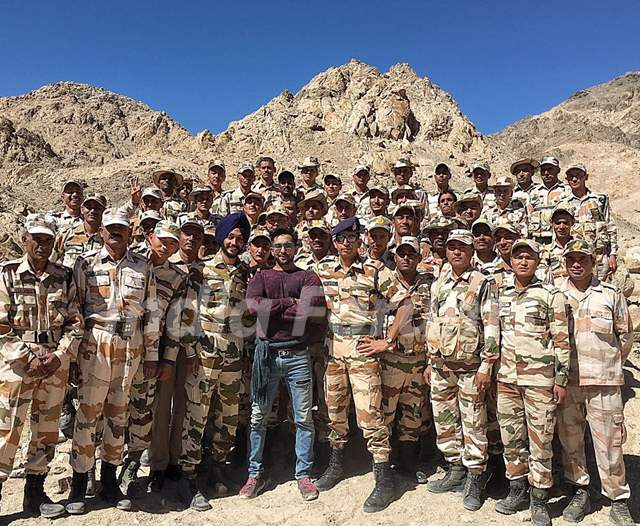 Terence Lewis gives motivational talks to the soldiers