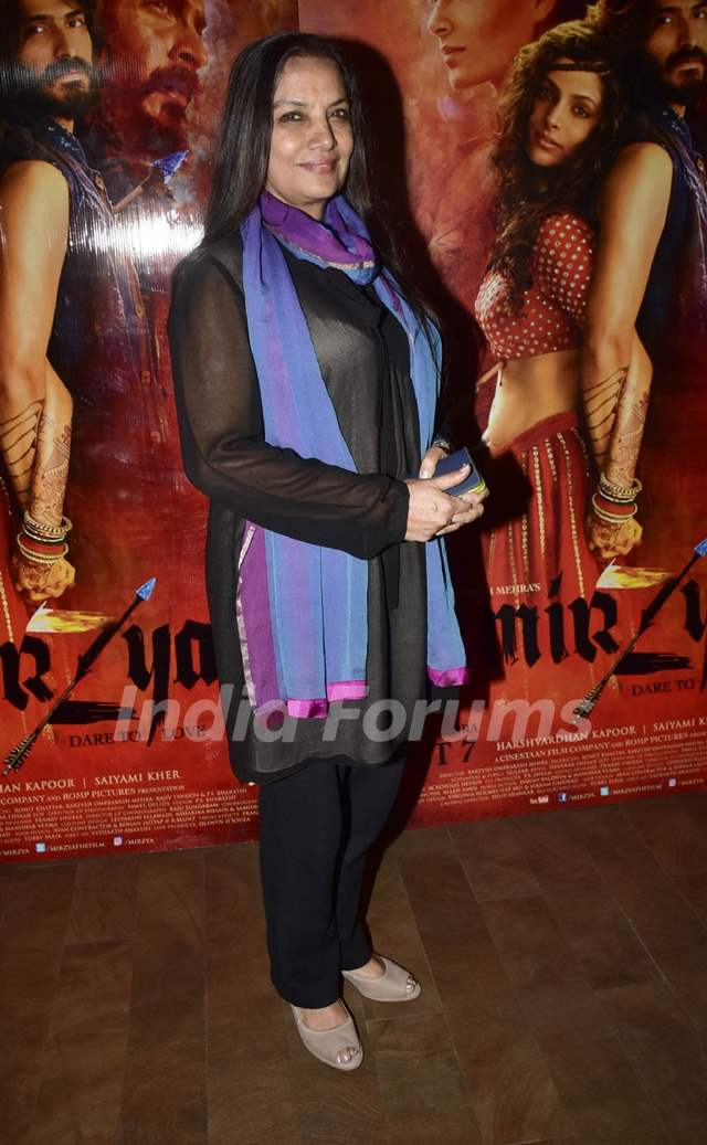 Shabana Azmi at Special screening of film 'Mirzya'