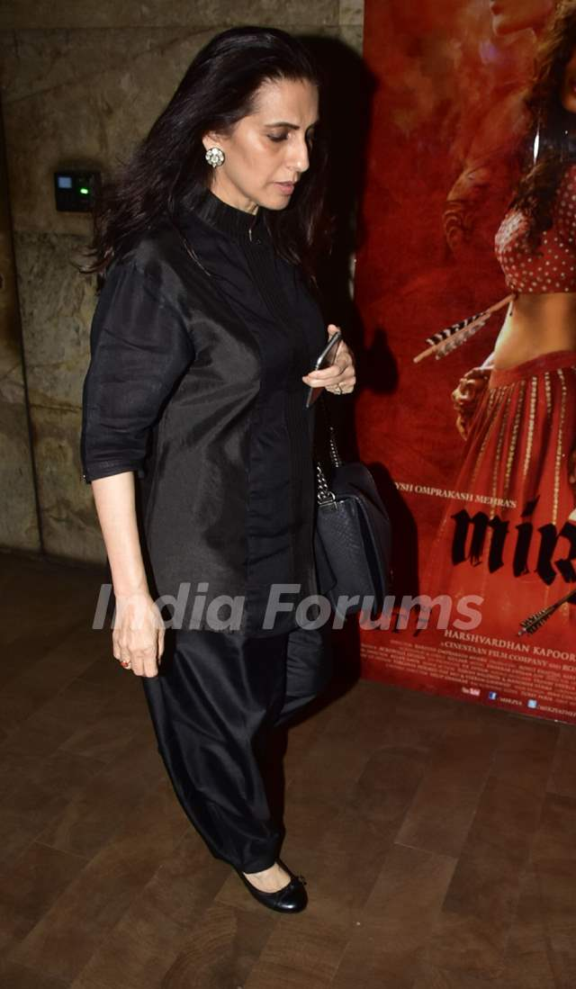 Sunita Kapoor at Special screening of film 'Mirzya'