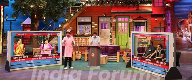 Shankar Mahadevan and Ehsaan Noorani on the sets of The Kapil Sharma Show
