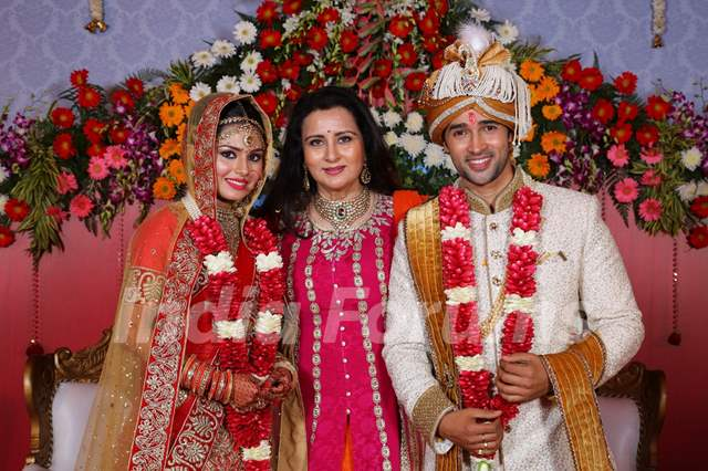 Poonam Dhillon at Karan Sharma and Tiaara Kar's wedding