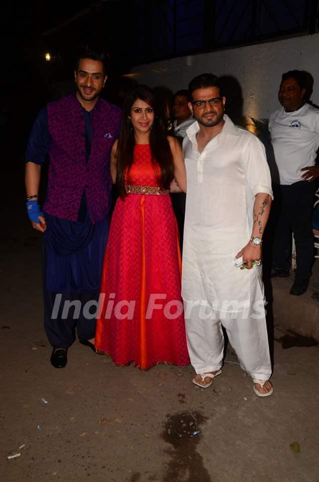 Karan Patel, Ankita Bhargava and Aly Goni at Kishwer Merchant and Suyyash Rai's Sangeet Ceremony