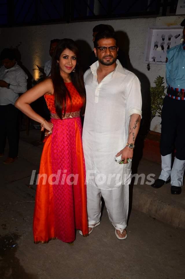 Karan Patel and Ankita Bhargava at Kishwer Merchant and Suyyash Rai's Sangeet Ceremony