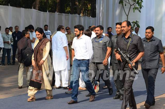 Aditya Thackeray after paying his last respects