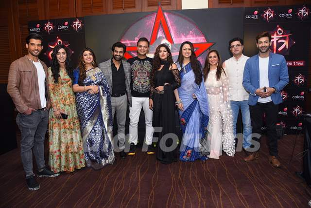 Producer Siddharth Kumar Tewary and star cast at the launch of Colors's Tantra