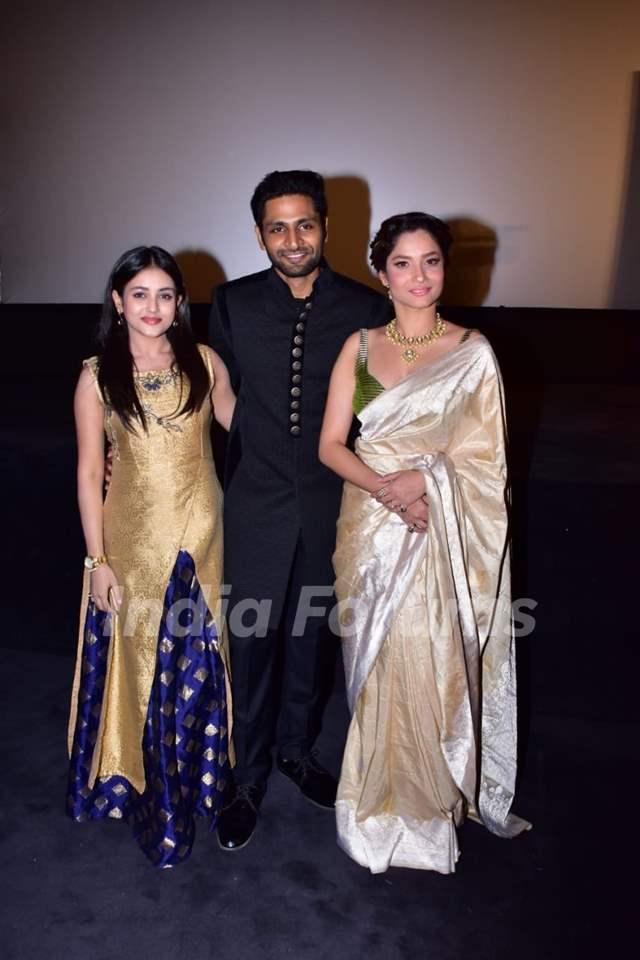 Ankita Lokhande, Mishti and Vaibhav Tatwawadi at Manikarnika trailer launch