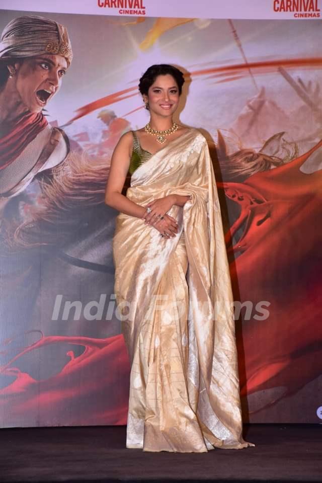 Ankita Lokhande at Manikarnika trailer launch
