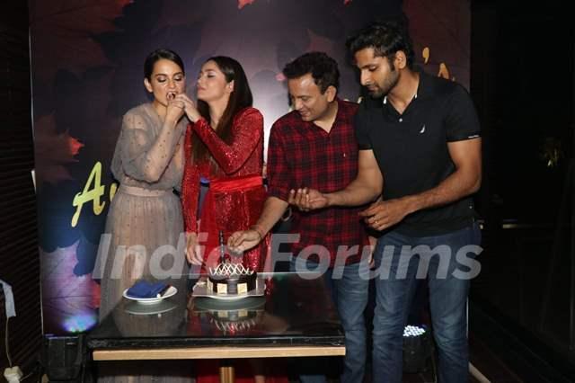 Kangana Ranaut, Ankita Lokhande and Vaibhav Tatwawadi at Ankita Lokhande's birthday bash