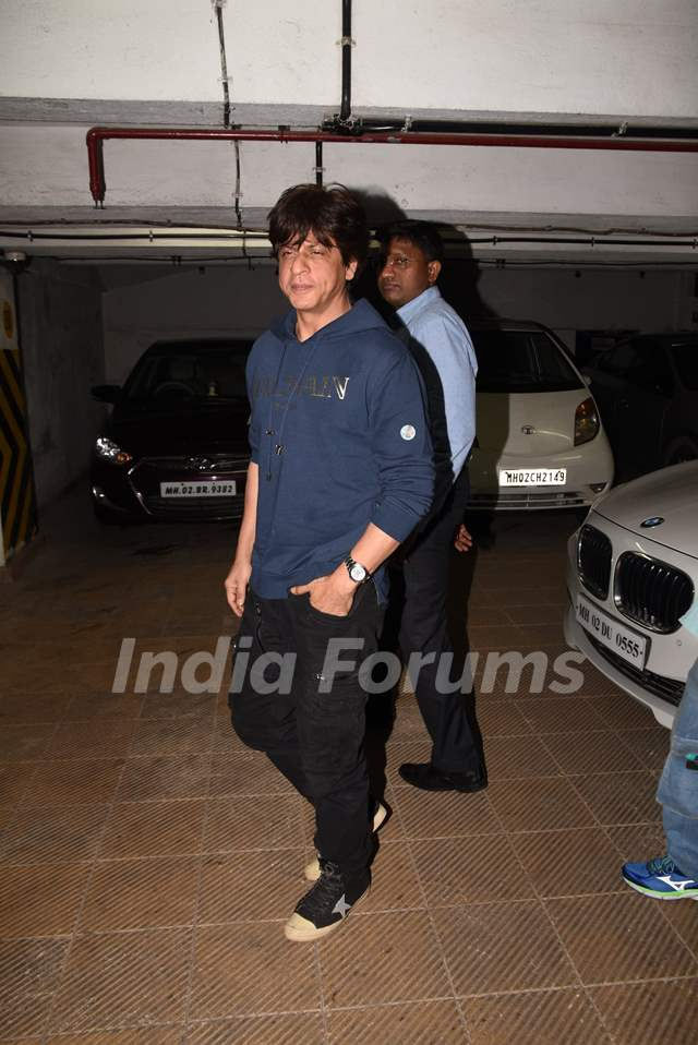 Shah Rukh Khan spotted for Zero's Screening