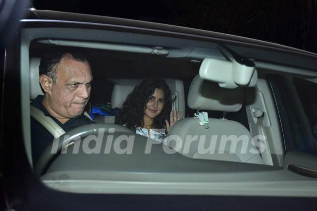 Katrina Kaif snapped during the screening of 'URI'