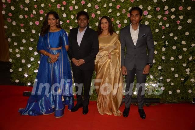Johny Lever and family at Amit Thackeray's reception