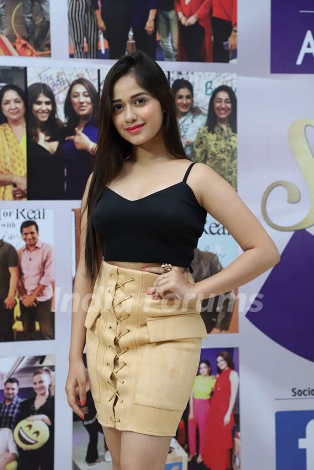 Jannat Zubair Rahmani snapped at the launch of Reel or Real season 3