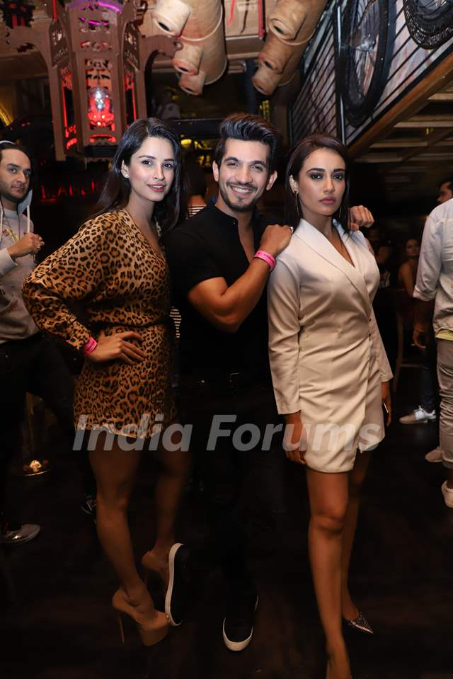 China with Arjun Bijlan, Surbhi Jyoti snapped at Anita Hassanandani and Pearl Puri's song launch