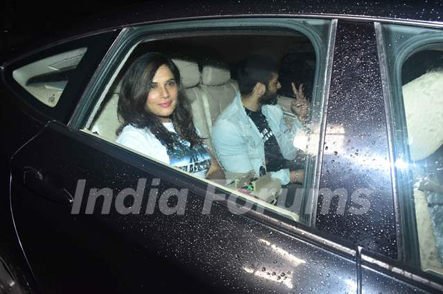 Richa Chadda and Ali Fazal were papped at the special screening of Super 30