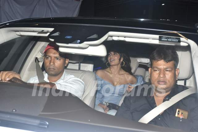 Jacqueline Fernandez was papped at the special screening of Super 30