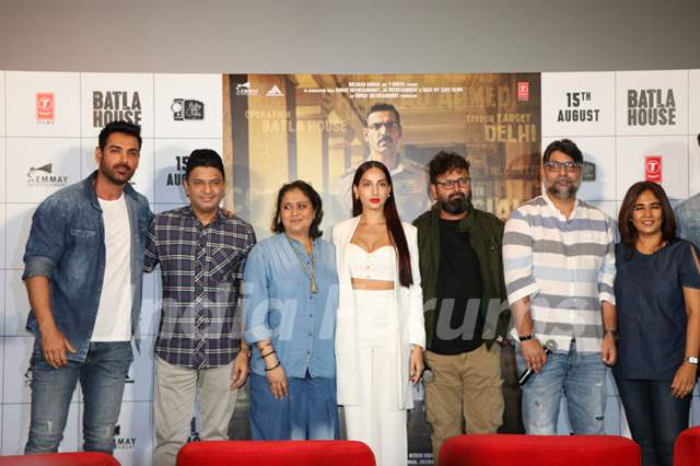 The cast of Batla House at its trailer launch