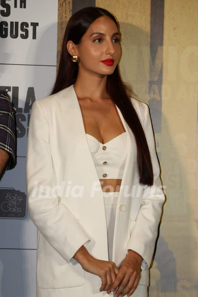 Nora Fatehi was snapped at the trailer launch of Batla House