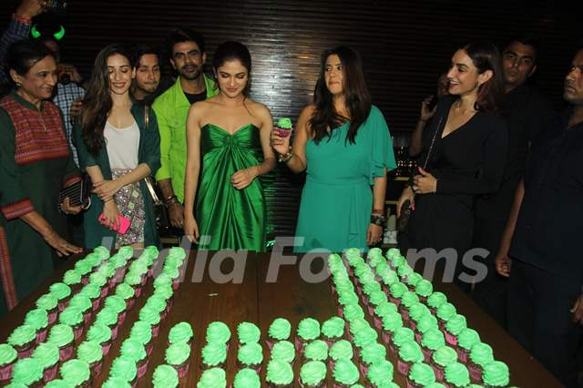 Heli Daruwala, Ankit Mohan, Ridhima Pandit and Ekta Kapoor at Haiwan launch party