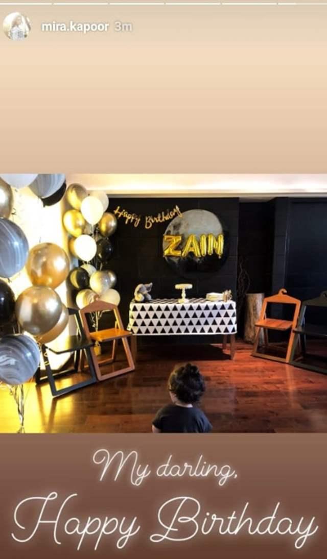 Zain 's birthday prep