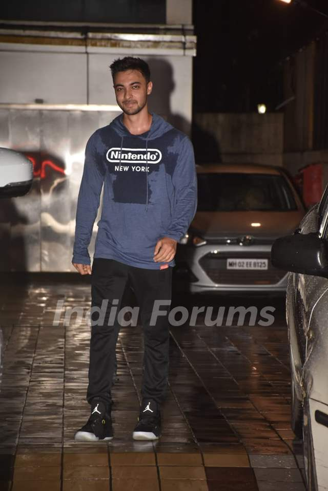 Aayush Sharma snapped around the town!