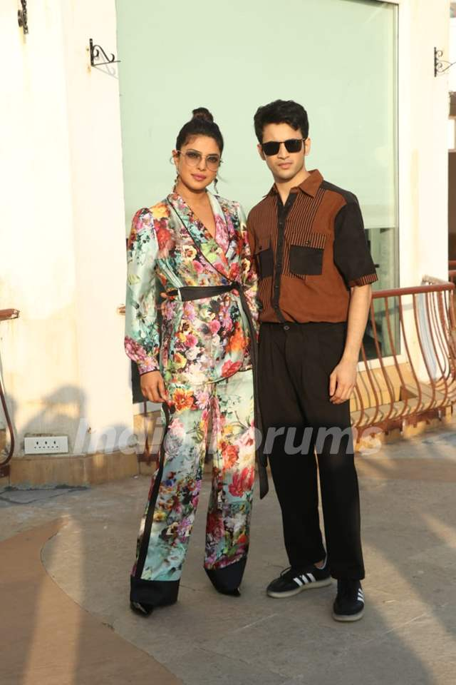 Priyanka Chopra and Rohit Saraf at the promotions of the The Sky is Pink!