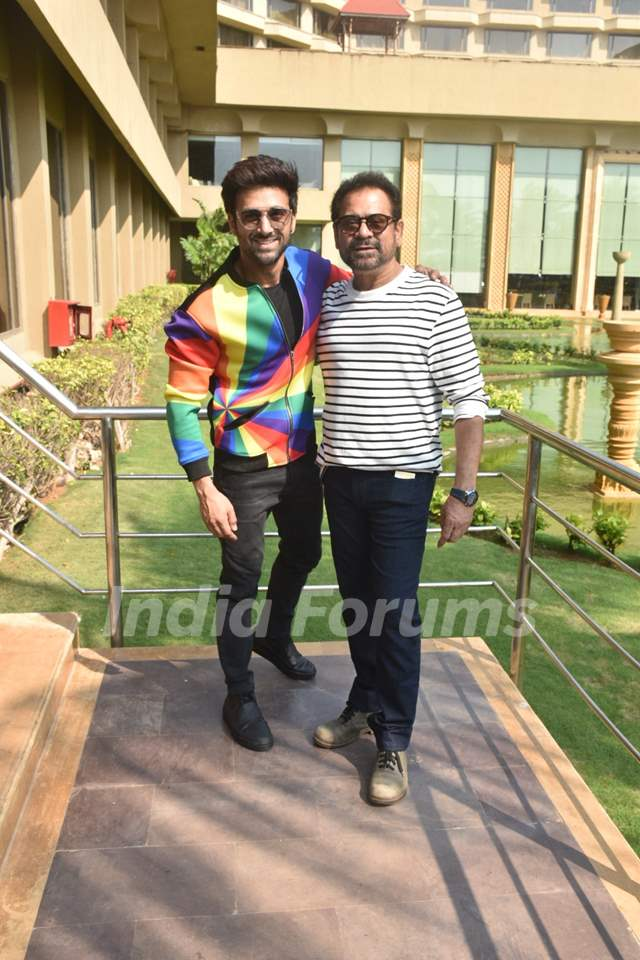 Pulkit Samrat and Anees Bazmee spotted during the promotions of Pagalpanti