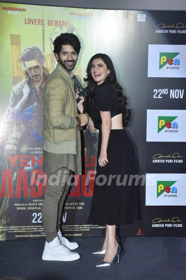Vardhan Puri & Shivaleeka Oberoi at the trailer launch of Yeh Saali Aashiqui!