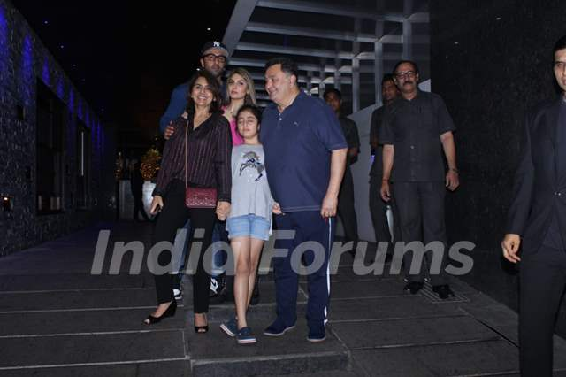 The Kapoor family spotted during an outing