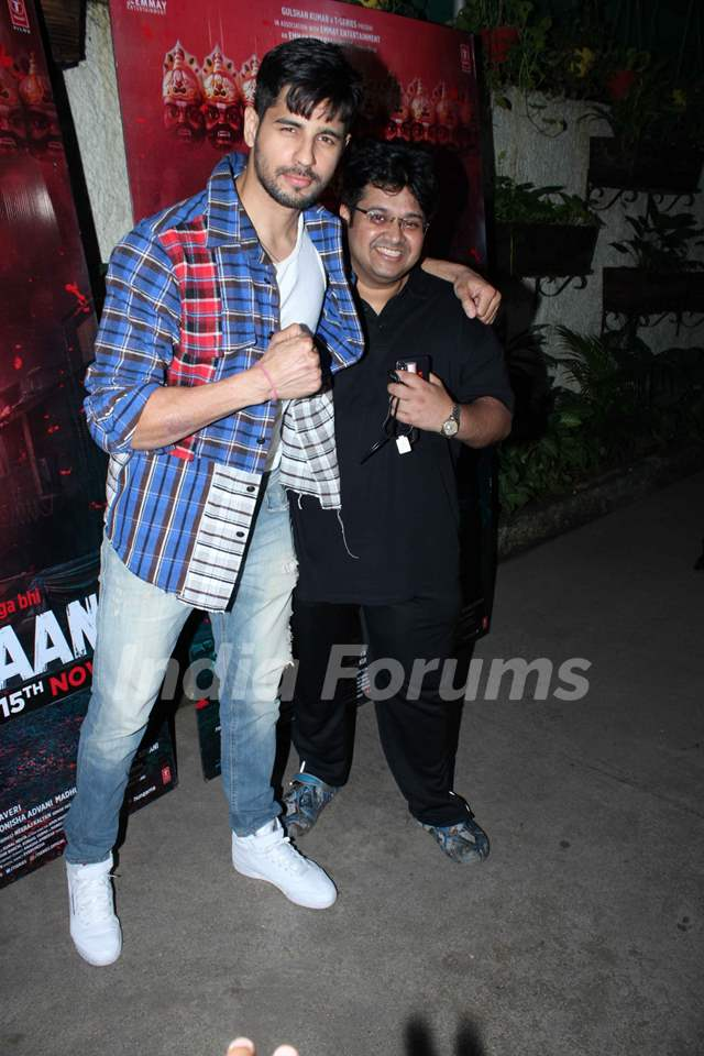 Sidharth Malhotra and Milap Zaveri papped at Marjaavaan's special screening