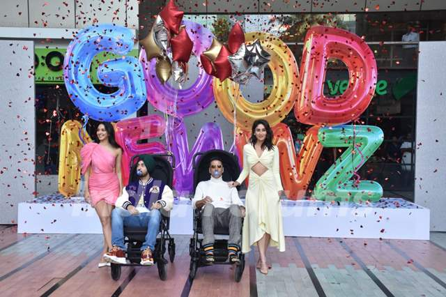 Akshay Kumar, Kareena Kapoor, Kiara Advani and Diljit Dosanjh attends the trailer launch of Good Newwz