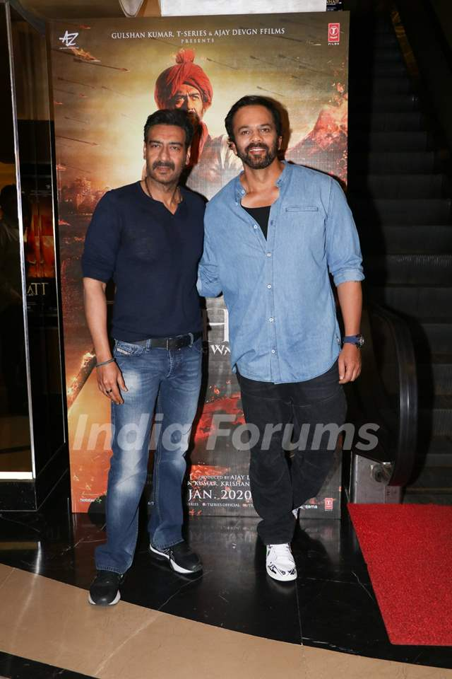 Ajay Devgn and Rohit Shetty papped at the special preview of Tanhaji: The Unsung Warrior