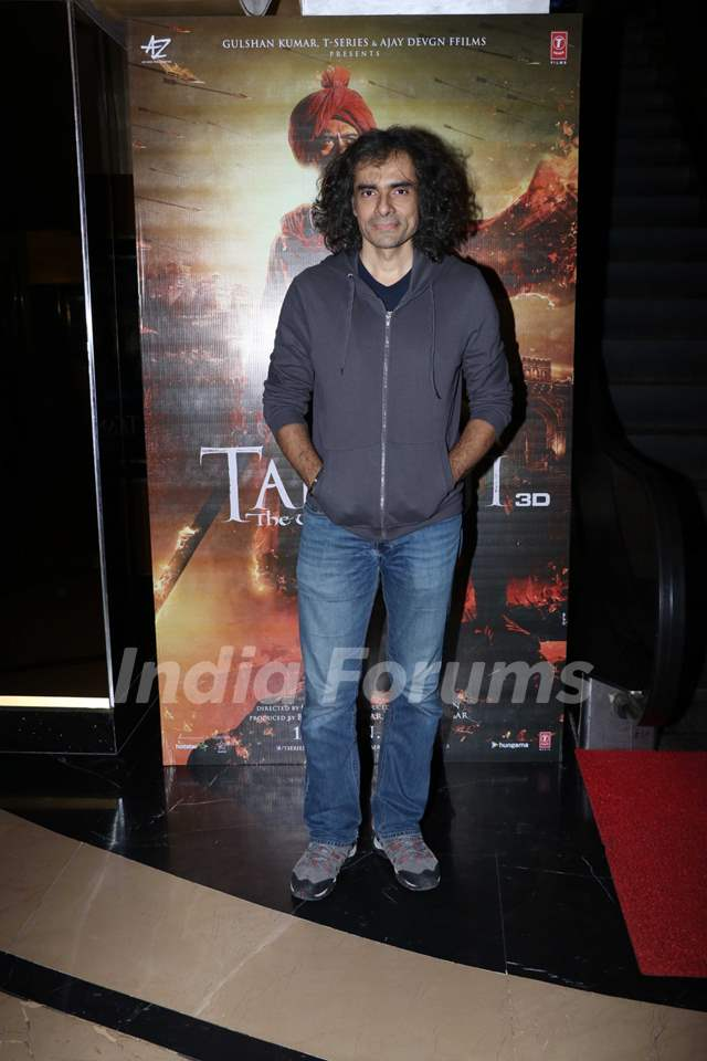 Imtiaz Ali papped at the special preview of Tanhaji: The Unsung Warrior