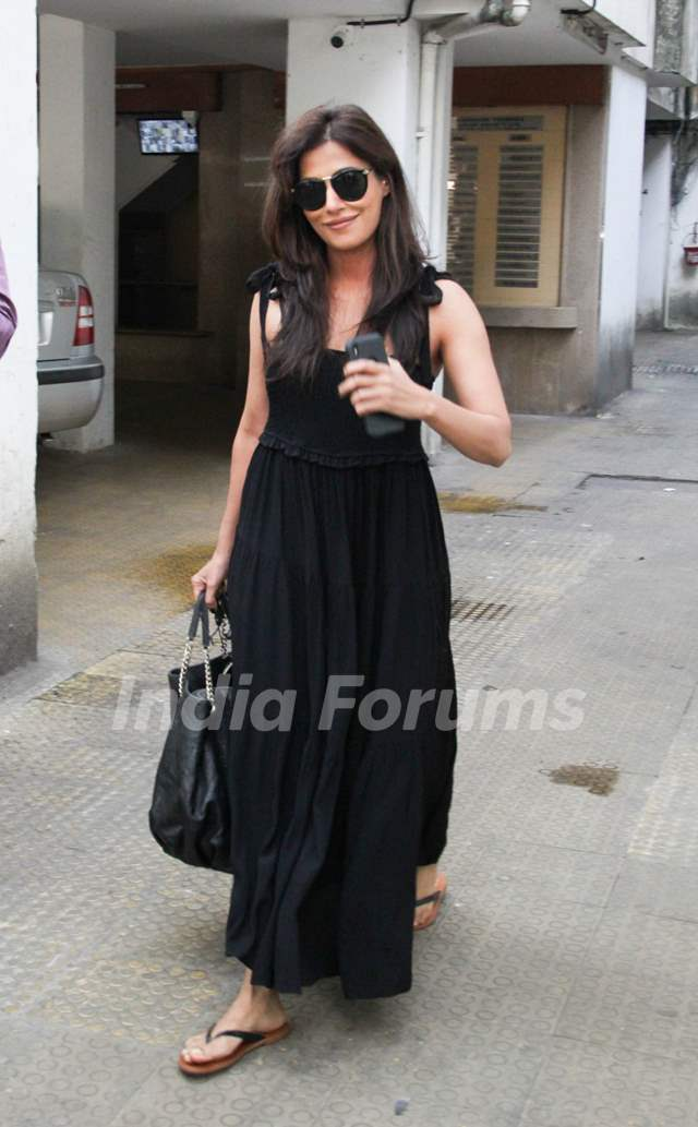 Chitrangda Singh snapped outside a clinic