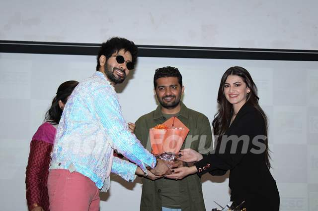 Vardhan Puri and Shivaleeka Oberoi papped during the promotions of Yeh Saali Aashiqui