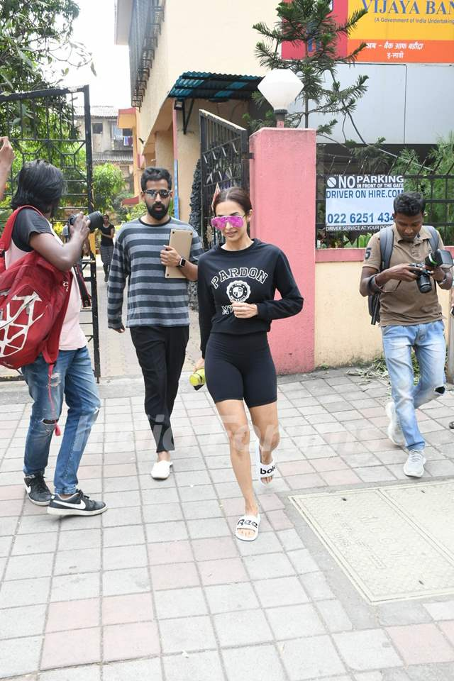 Malaika Arora papped outside her gym