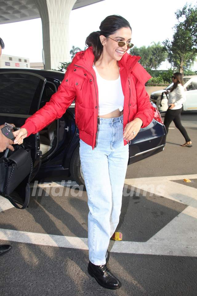 Deepika Padukone papped at the airport