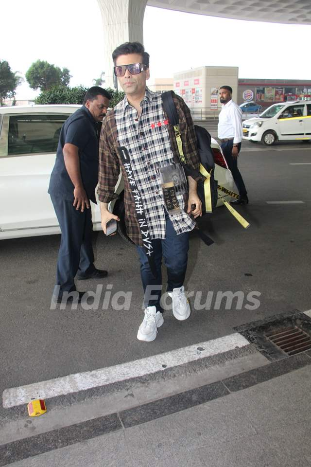 Karan Johar papped at the airport