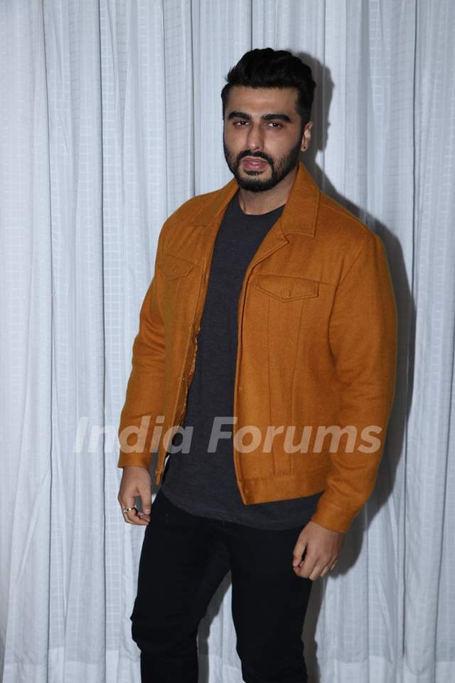 Arjun Kapoor snapped during the promotions of Panipat