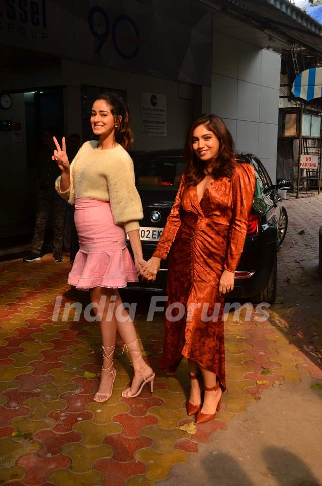Bhumi Pednekar and Ananya Panday snapped during the promotions of Pati Patni Aur Woh