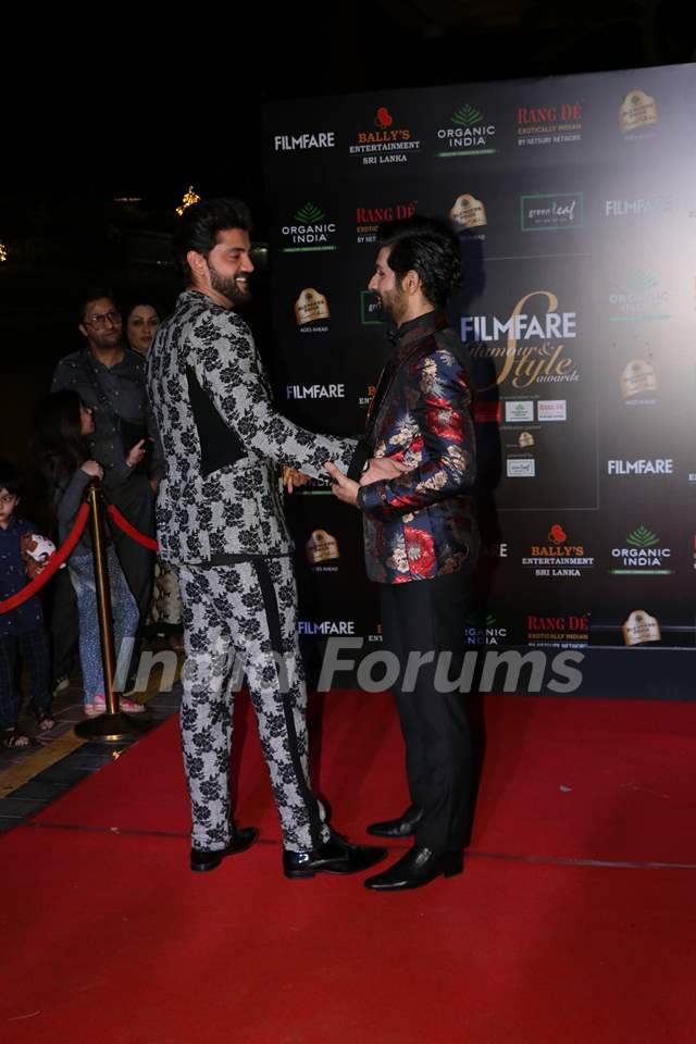 Vardhan Puri and Zaheer Iqbal papped at the Red Carpet of Filmfare Glamour and Style Awards 2019