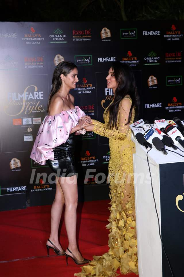 Kiara Advani and Ananya Panday papped at the Red Carpet of Filmfare Glamour and Style Awards 2019