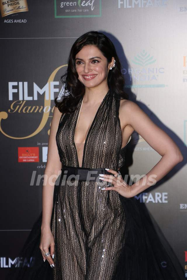 Divya Khosla Kumarpapped at the Red Carpet of Filmfare Glamour and Style Awards 2019