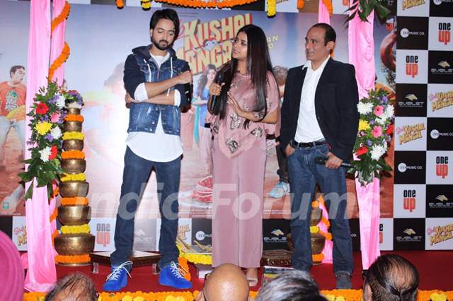 Priyaank Sharma, Riva Kishan and Akshaye Khanna papped at the trailer launch of Sab Kushal Mangal