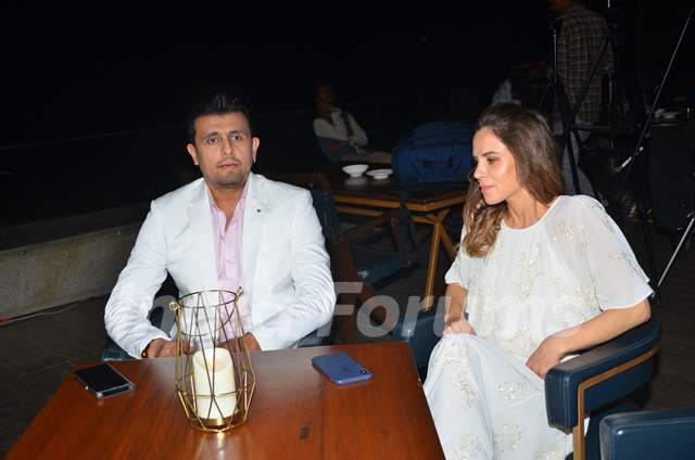 Sonu Nigam spotted during an event